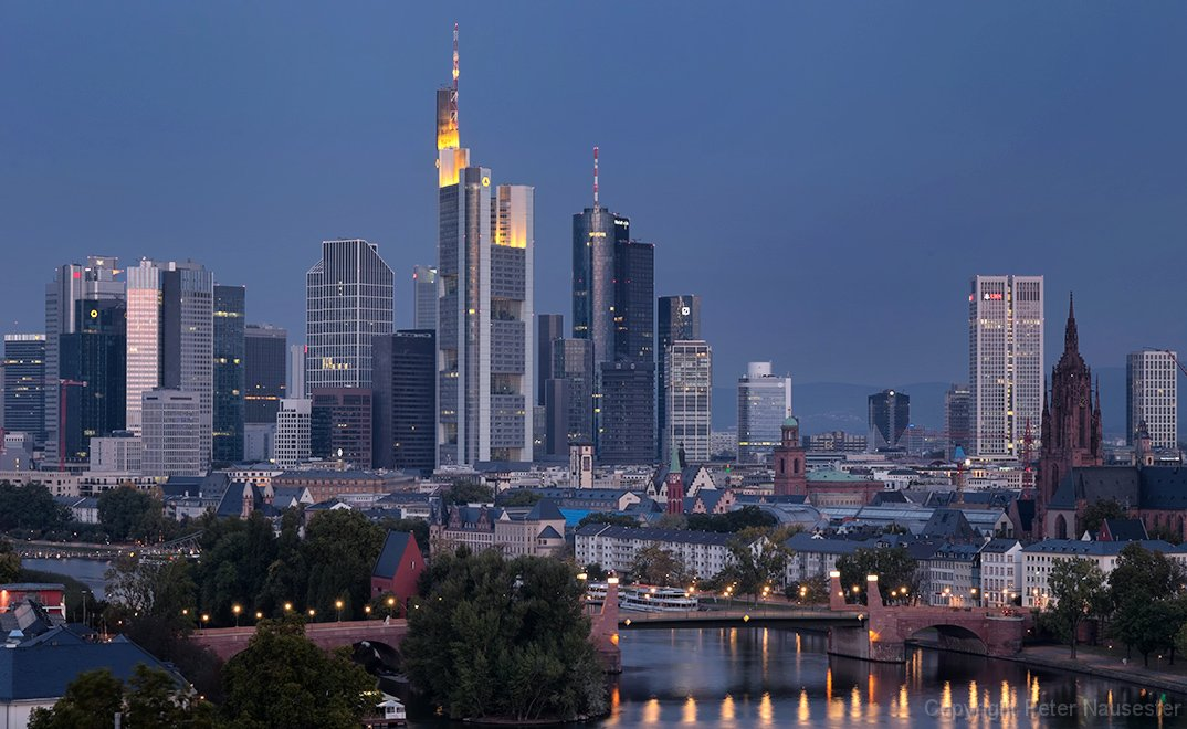 frankfurt main skyline. Black Bedroom Furniture Sets. Home Design Ideas